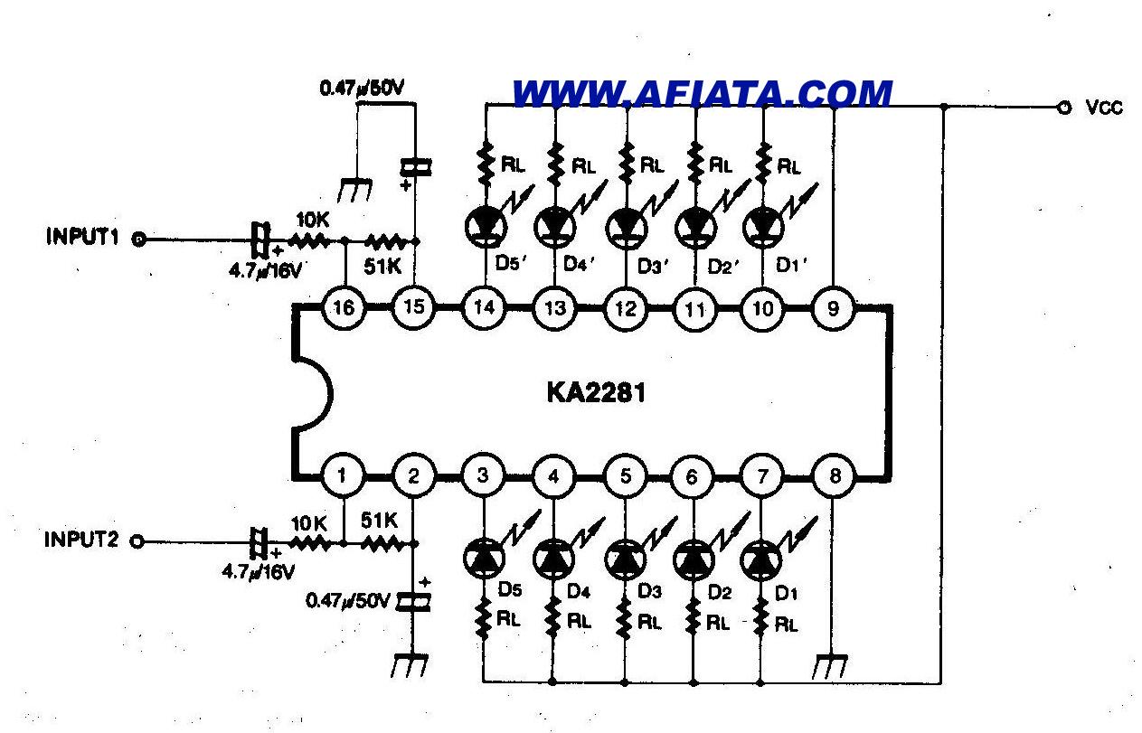 audio vu meter mono circuit electronic design