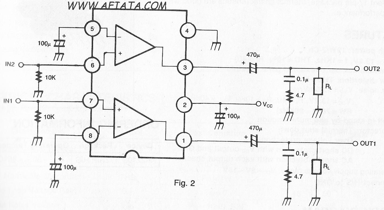 audio amplifier circuit using ic ka2209 simple electronic circuit