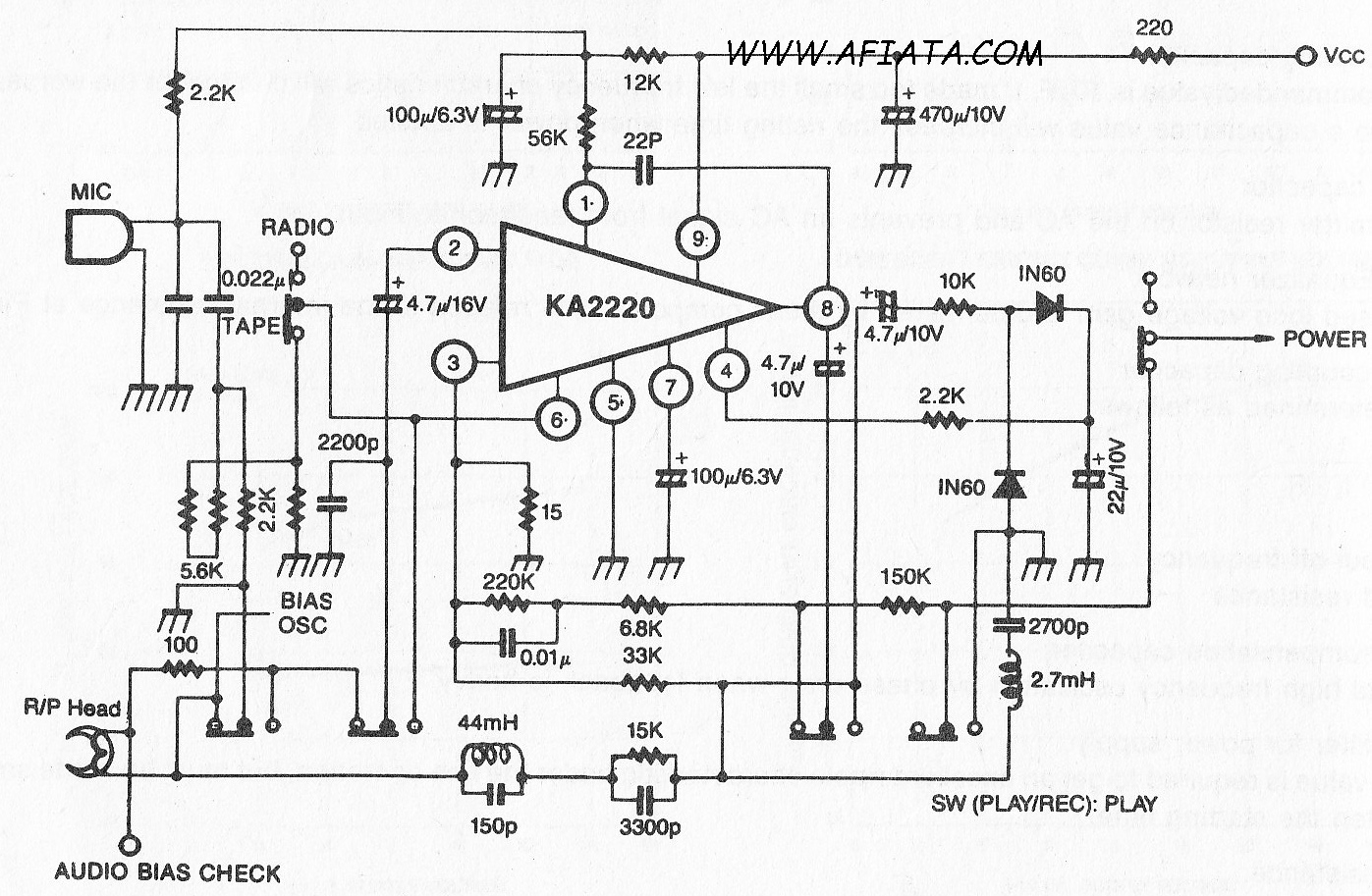 Tape Radio Mic Audio Input Amplifier