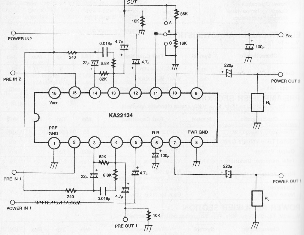 Dual Pre-power Amplifier, volume controller and DC motor