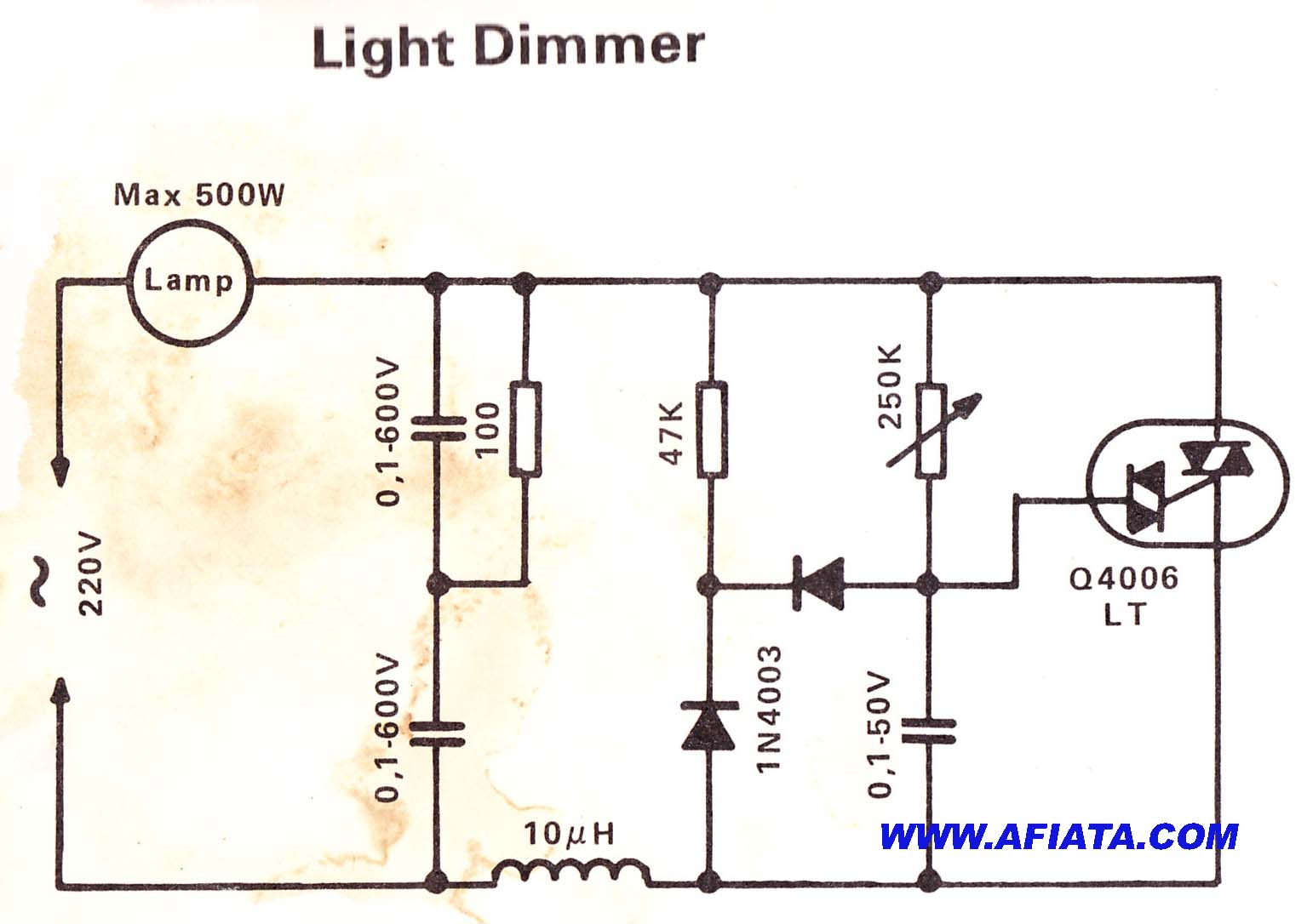 Image Showing A Simple Lighting Circuit Diagram