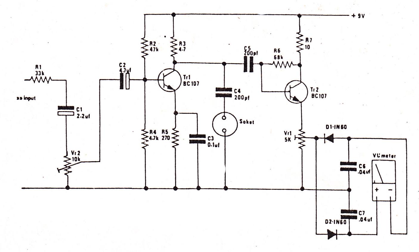 audio vu meter circuit
