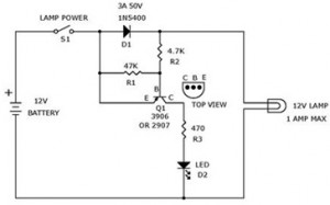 12 volt light bulbs circuit for voltage monitoring