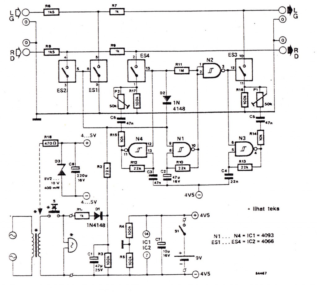 Audio Doorphone Intercom Circuits Using And