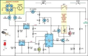 Battery Charger circuit diagram | Electronic Circuit Diagram and Layout