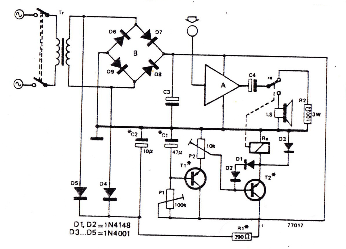 Intercom Circuit Diagram