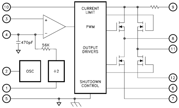 This dual bidirectional motor driver, from afiata.com, is