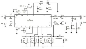 Audio preamplifier with tone control | Electronic Circuit Diagram and Layout