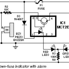Digital Temperature Controller Wiring Diagram Ceiling Fan Separate Switches Blown Fuse Indicator | Electronic Circuit And Layout