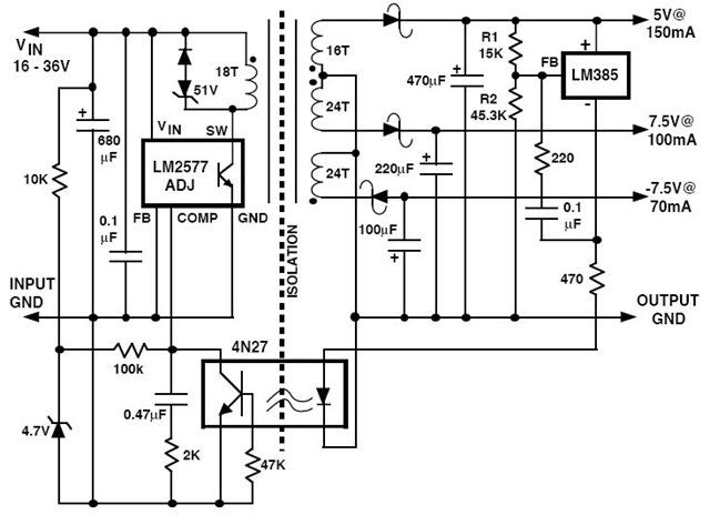 flyback transformer circuit