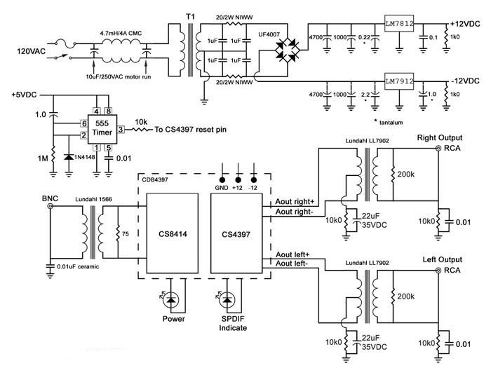 mono headphone wiring diagram water cycle worksheet for kids 12v control power supply using cs8414, cs4397, lm7812, lm7912   electronic circuit and ...