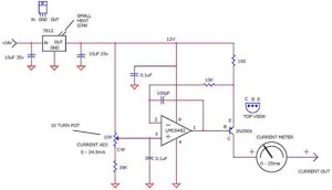 420MA Current Loop Tester using LM6482, 7812, 2N3906