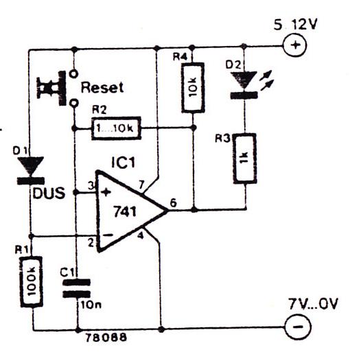 indicator led circuit for human error