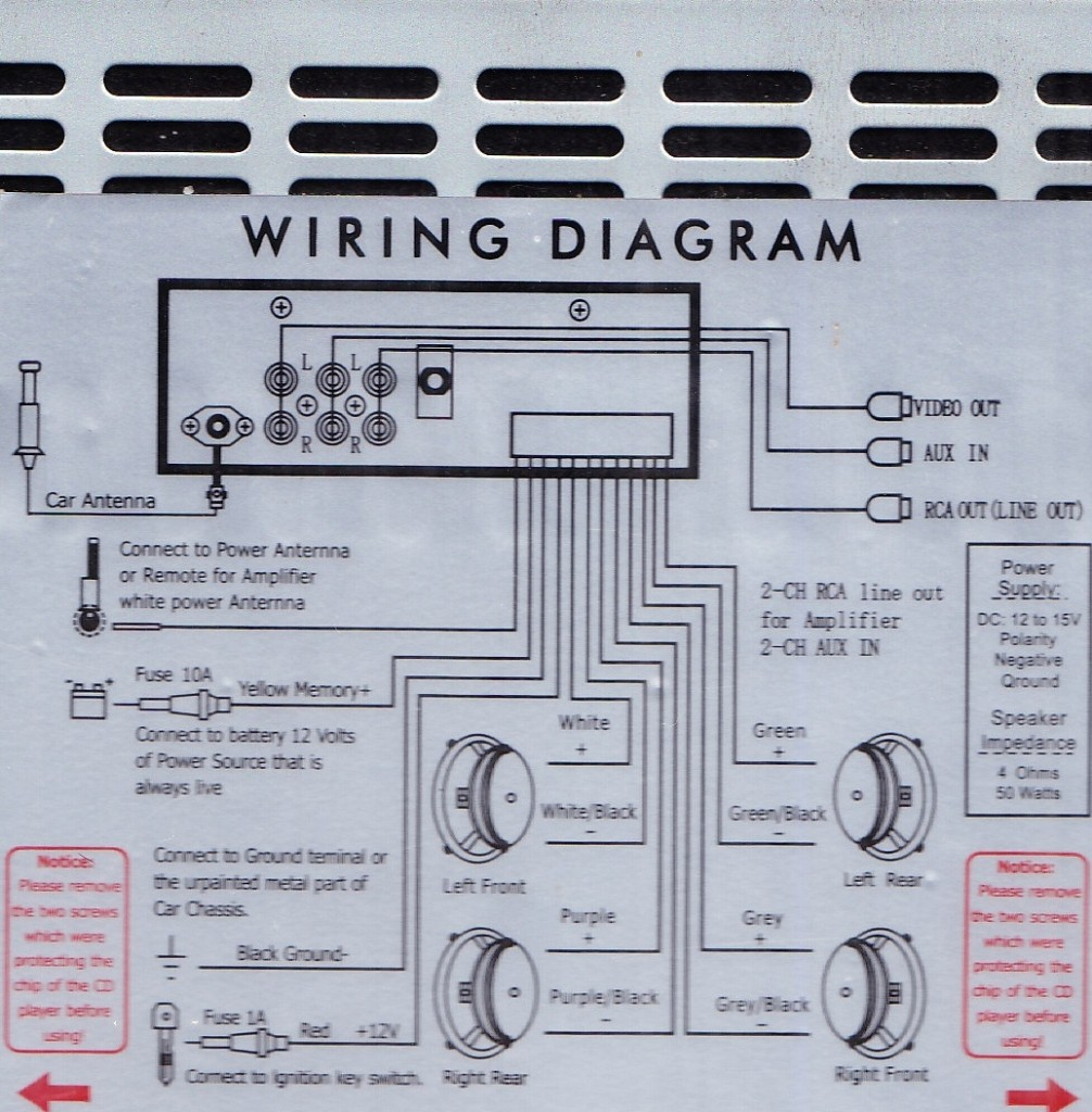 Radio Wiring Diagram On Kenwood Bluetooth Car Radio Wiring Diagram