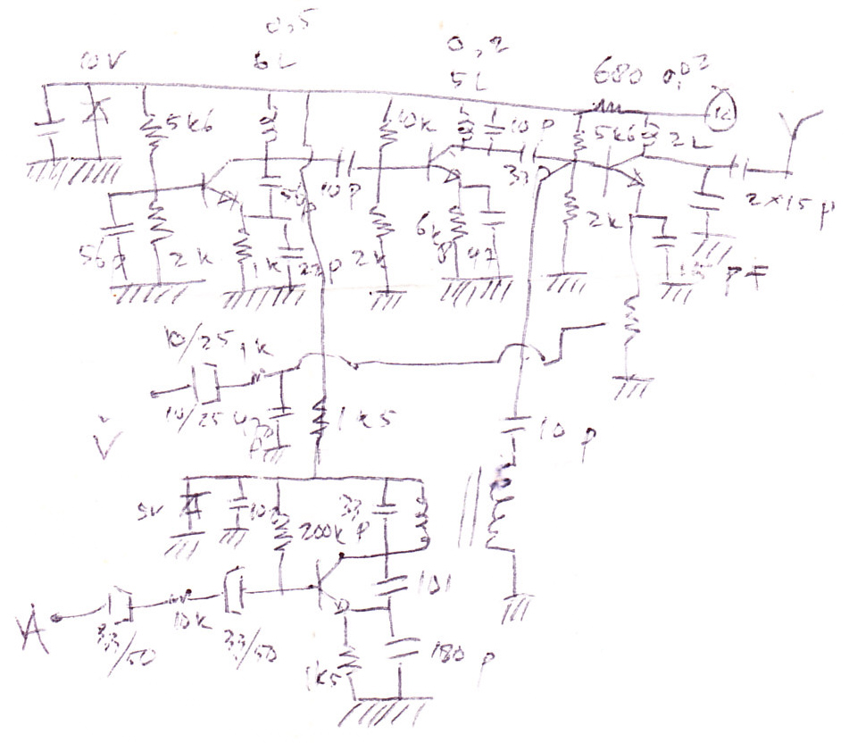 Video transmitter electronic circuit diagram and layout