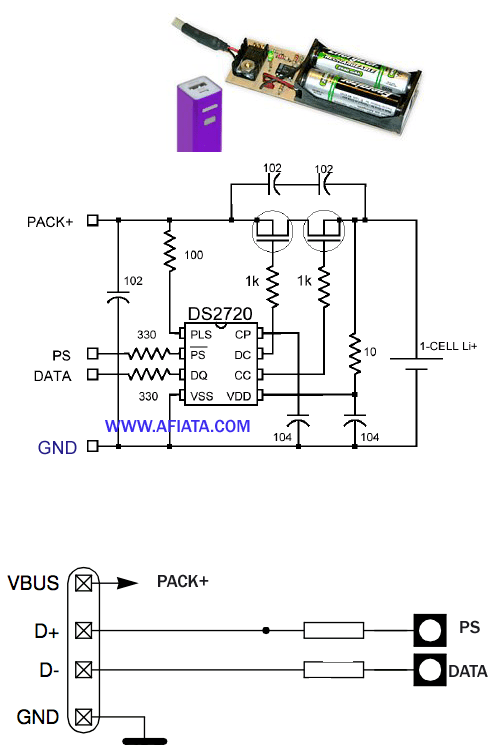 schematic diagram of usb charger