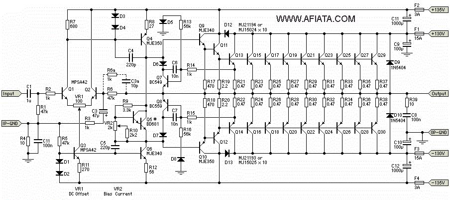 pa 3000w namec circuit diagram