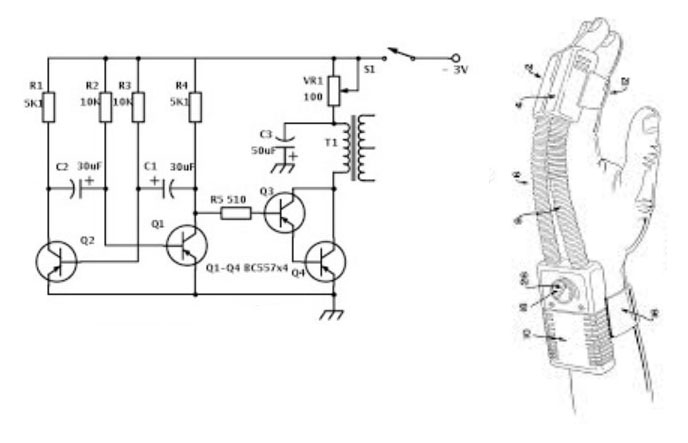 mini electric massager circuit diagram