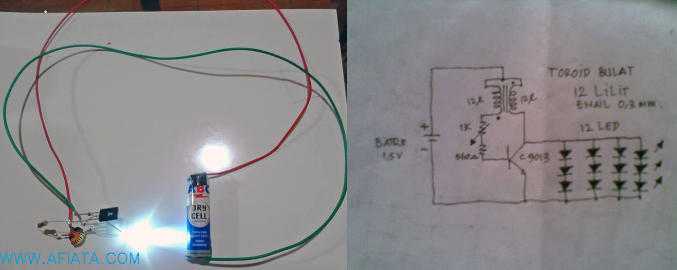 Transistor Joule Thief Circuit