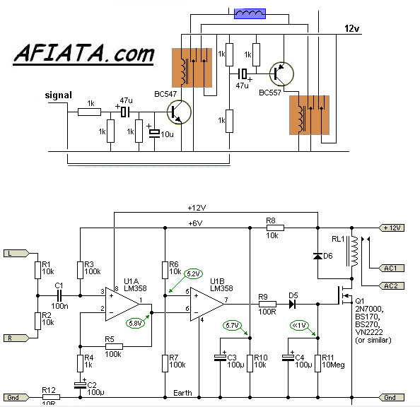 basic relay switch circuit