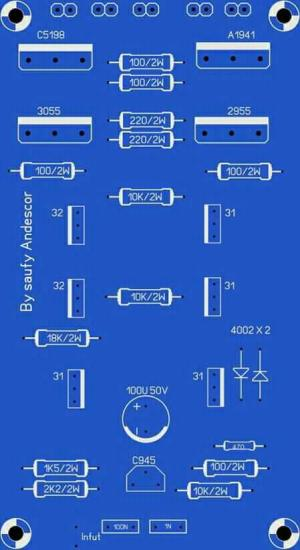 High Power Audio Amplifier Layout Diagram | Electronic Circuit Diagram and Layout