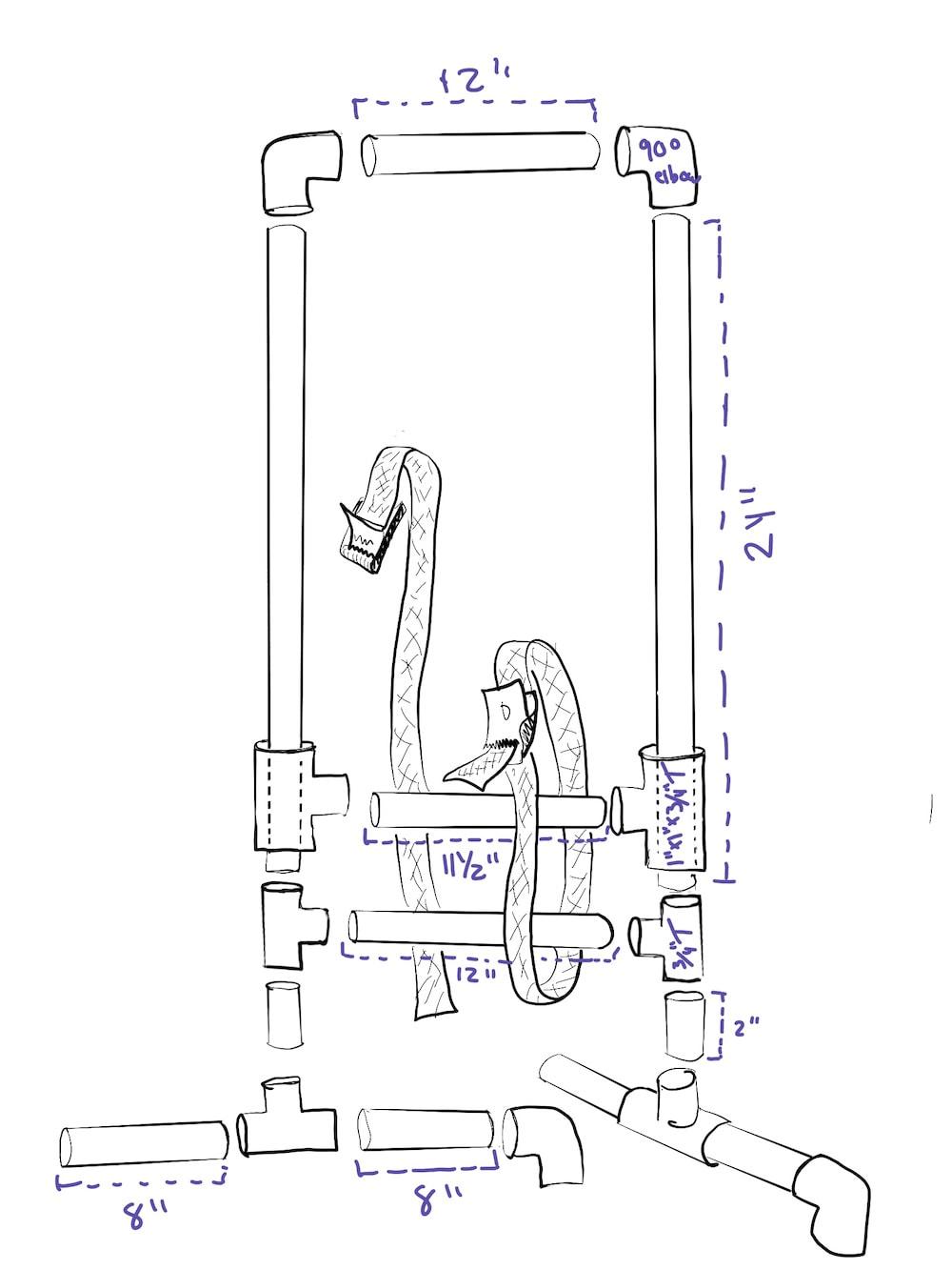 medium resolution of pvc loom specs for tensioned tapestry loom