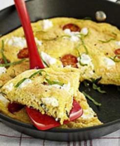 Peynirli Mantarlı Omlet tarifi