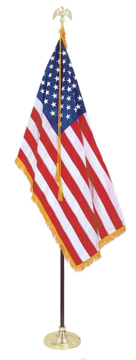 indoor american flag set