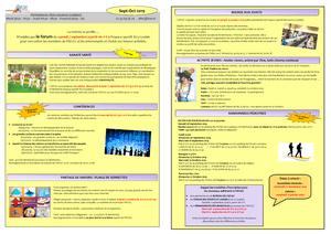 Les activités proposées en septembre et octobre 2019