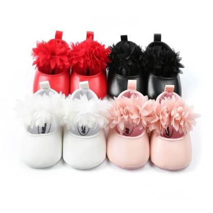 Girl-Shoes-Lace-PU-Leather-Princess-Baby-Crown-Shoes-First-Walkers