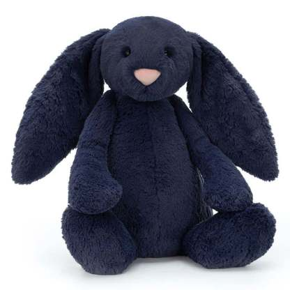 Jellycat Bashful Navy Bunny Huge 51cm   All Ages Special Gift Plush