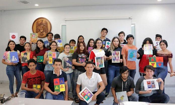 creatuobra 696x417 - Crean estudiantes su propia obra pictórica basándose en grandes artistas - #Noticias
