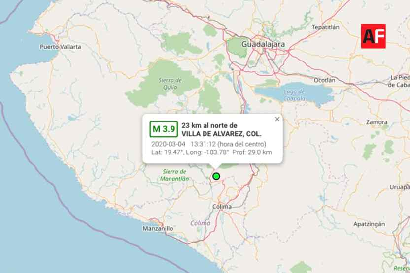 sismo masfuerte colima marzo - SSN reportó 2 mil 257 sismos en el mes de marzo