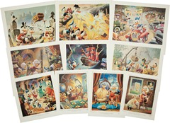 Carl Barks Lithographic Suite Preliminary Paintings Portfolio Another Rainbow 1986