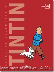 bozza di una delle possibili copertine della nuova edizione italiana di Tintin