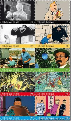 Tintin - Francobolli Cinema - 2011