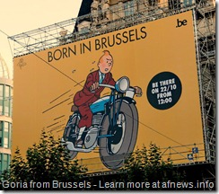 Tintin born in Brussels
