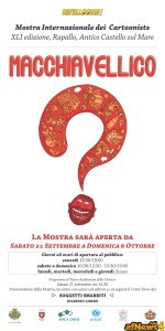 Mostra Cartoonists Rapallo 2013 - locandina 1000