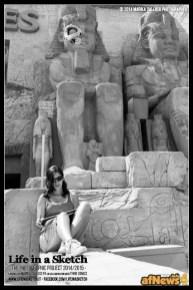Stefania Marino Gambazza a Gardaland per il progetto Life in a Sketch