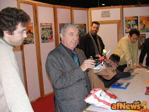 Sergio Bonelli, 14 dicembre 2002, Firenze, Comicstrip - foto Gianfranco Goria