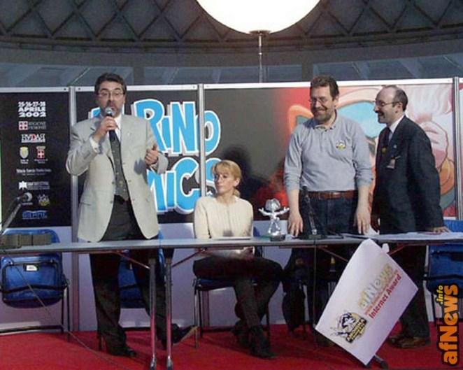 L'Assessore alla Cultura della Regione Piemonte Giampiero Leo, Laura Frus Presidente dell'Accademia Pictor, Gianfranco Goria Presidente della Associazione Anonima Fumetti, Vittorio pavesio direttore Artistico di Torino Comics