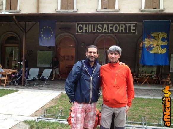 Attraverso le Alpi_i registi Filippo Ciardi (a sin_) e Giancarlo Bertalero