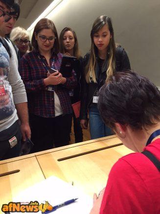 Anche il panel sull'arte dello storyboard è andato alla grande, e il successo si vede dai tanti ragazzi in fila.