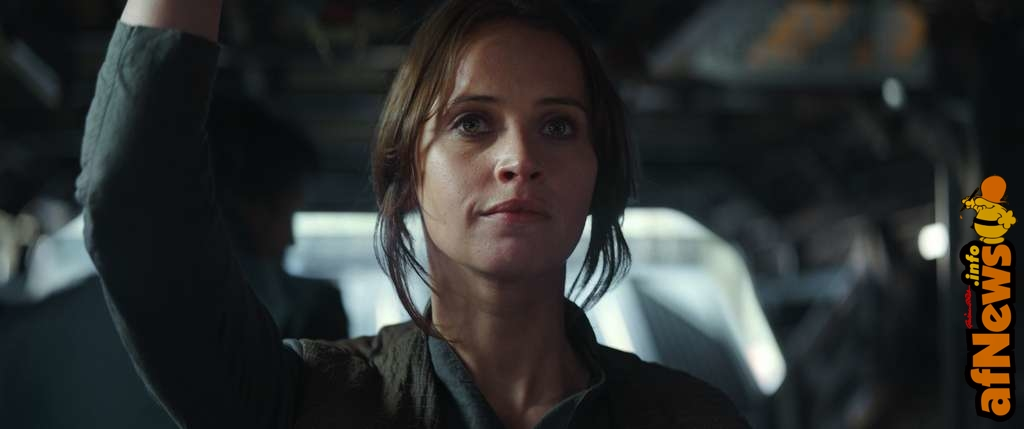 Rogue One: A Star Wars Story..Jyn Erso (Felicity Jones)..Ph: Film Frame ILM/Lucasfilm..© 2016 Lucasfilm Ltd. All Rights Reserved.