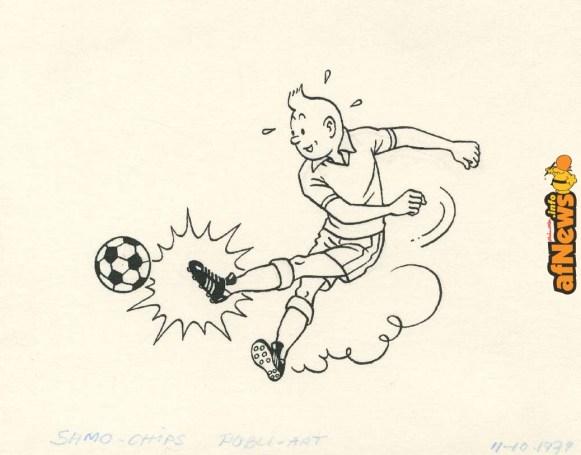 Lot455_Herge_studios_Tintinjouantaufootball-afnews