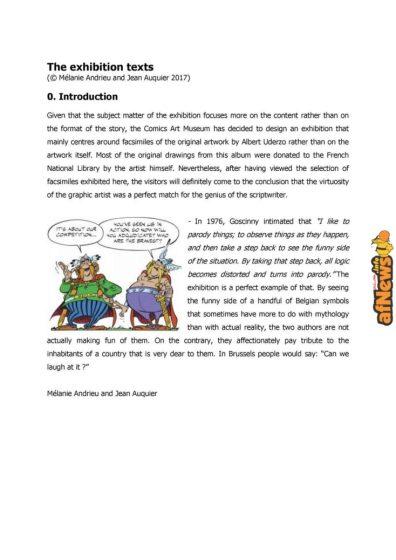 Belgian Comics Art Museum exhibit Asterix in Belgium - PRESS-4-afnews