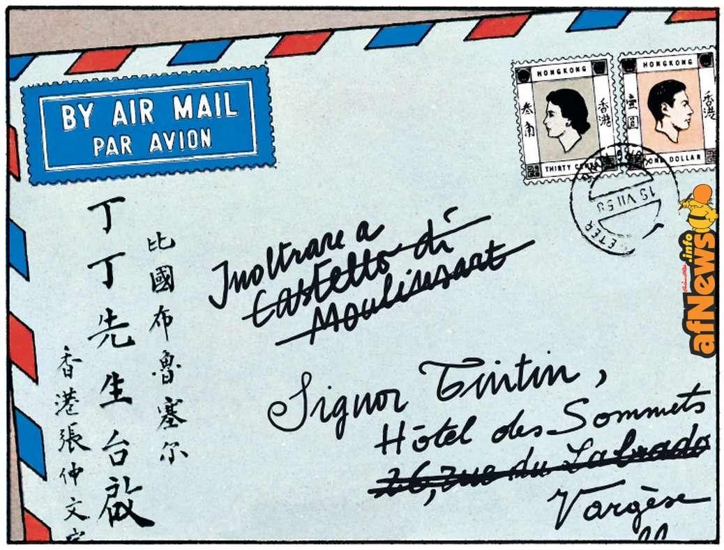 Lettera Chang Tintin Tibet italiano-afnews