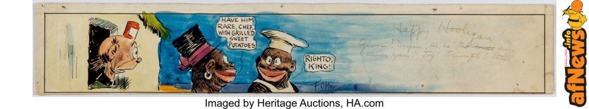 Frederick Opper Happy Hooligan Partial Sunday Comic Strip Original Art dated 11-8-14