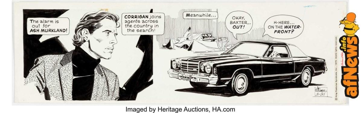 Al Williamson Secret Agent Corrigan Daily Comic Strip Original Art dated 5-31-75-afnews-afnews