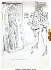 Bill Ward - Adult Single Panel Gag Cartoon Illustration Original Art c1980-afnews-afnews